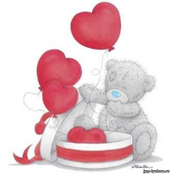 рисунок картинки мишка с сердечком